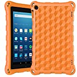 All New 7 inch Tablet Case for Kids-DiHines Kids-Proof Protective Case Cover for 7 inch Tablet (Compatible with 2019&2017&2015 Release)-Orange