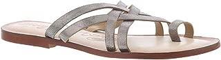 Womens Pewter Cross Sandals