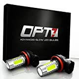 OPT7 Show Glow Plasma H11 H8 H9 H16 LED Fog Light Bulbs - COB...