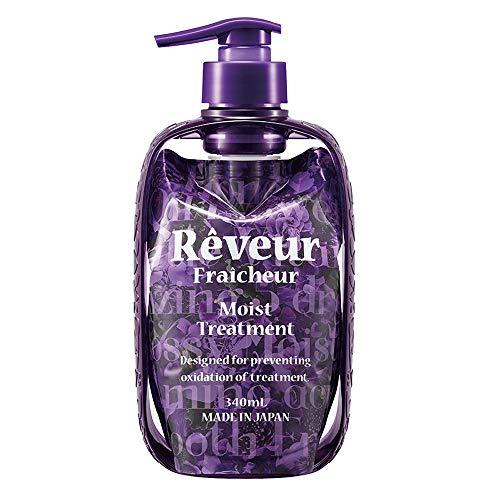 Reveur Fraicheur Moist Hair Treatment Dispenser Set 340ml - Eve Rose Berry Scent (Green Tea Set)