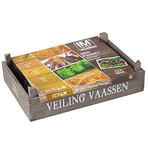 geschenkartikel-shopping Pflanz-Set Bierpaket Weizen Hopfen Gerste Garten Samen-Set Gätner Pflanzerde (groß)