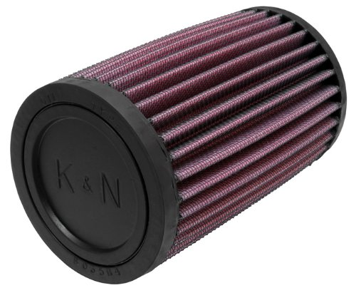 K&N RU-0520 Universal Clamp-On Air Filter: Round Straight; 2.063 in (52 mm) Flange ID; 6 in (152 mm) Height; 3.5 in (89 mm) Base; 3.5 in (89 mm) Top