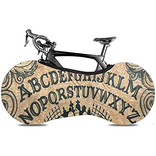 L.BAN Couverture de Roue de vélo Sweet-Heart, Couverture de vélo de Pneu de Vitesse de Protection Anti-Rayures Durable - générique Ouija Board Dangerougame Skull Graveyard