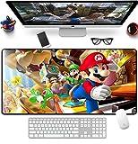 Alfombrilla De Ratón De Dibujos Animados Mario Gaming Alfombrilla De Ratón con Borde De Bloqueo Grande De Goma Otaku DIY Otaku Alfombrilla De Ratón para Teclado De Ordenador 900x400x3mm