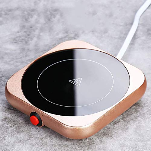 ZXL Tassenwärmer für Kaffee, warme Tasse 55 Grad heißer Milchkaffee Selbsterhitzende Tasse Büro Konstanttemperatur Heizung Untersetzer Heizung Isolierboden mit Tasse (Farbe: Abbildung 2)