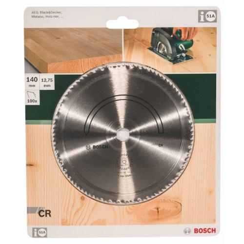 Bosch 2609256823 DIY Kreissägeblatt E-Typ Chromstahl 140 x 2 x 12.7/,Z100