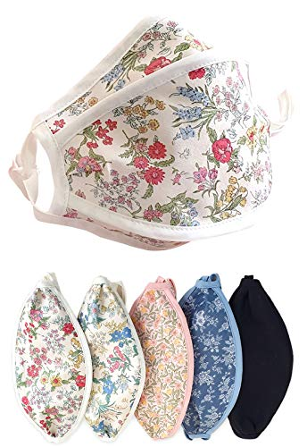 TETEROT SALON Cute Cotton Face Masks 5 pcs Washable Filter Replacement Fashion Unisex Kpop Mask