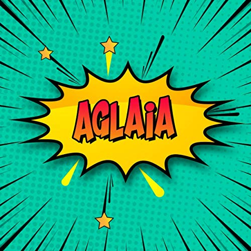 Aglaia: Draw Your Own Comic Super Hero Adventures with this Personalized Vintage Theme Birthday Gift Pop Art Blank Comic Storyboard Book for Aglaia | 150 pages with variety of templates
