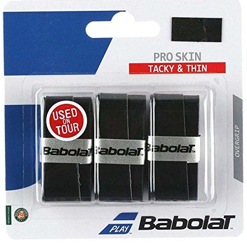 Babolat(バボラ) テニス オーバーグリップ プロスキン 3本入り BA653036 ブラック(081)