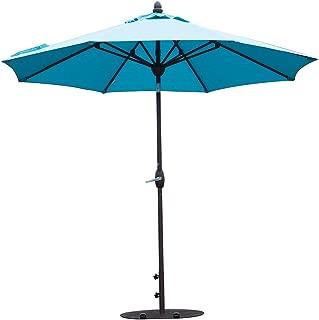 SORARA Patio Umbrella 11 Feet Outdoor Table Market Umbrella with Push Button Tilt&Crank&Umbrella Cover, 8 Ribs, Aruba