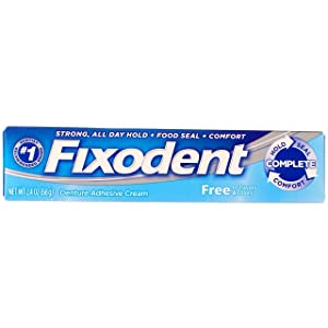 Fixodent Free Denture Adhesive Cream 2.40 Ounce (Pack of 2)