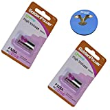 HQRP 2-Pack 6-Volt Battery Compatible with PetSafe RFA-18 RFA-18-11 fits PBC19-11043 PBC00-12724 PBC19-13095 Bark Control Receiver Dog Collar + Coaster