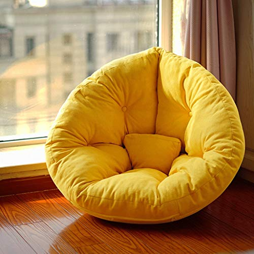 Bean Bag Chair For Adults Gaming Chair,Balcony Tatami Bedroom Lovely Single Small Sofa, Balcony Female Bean Bag (color : Yellow)