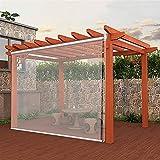 ZXXL Persiana Enrollables Bambú Patio del Jardín Persianas Enrollables Transparentes de PVC con Accesorios, Resistente a la Lluvia Resistente al Viento Cortina Enrollable Exterior de Ventana