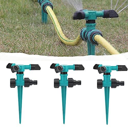 3 Piezas Aspersor Automático de Césped 360 °, Aspersores de Agua Automáticos para Césped de Jardín, Aspersor Giratorio de Tres Brazos, Utilizados En Sistemas de Riego por Aspersión de Jardín de Césped