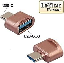 Josi Minea USB 3.1 Type C Male (USB-C) to USB 3.0 Type A Female OTG Host Adapter for Samsung Galaxy S8 & S8 Plus, LG G6 & G5, Nexus 5X & 6P, New Apple Macbook, Google Pixel Tablet - Rose Gold