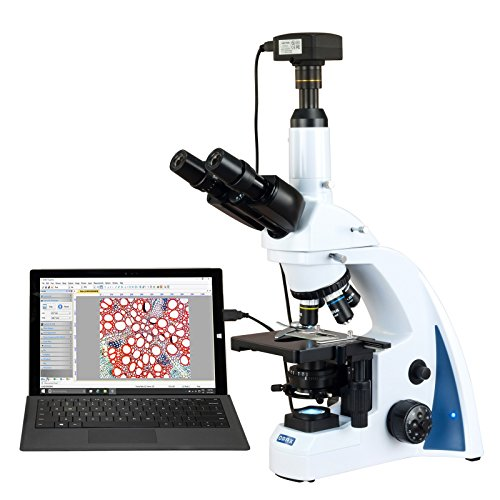 OMAX 40X-2500X USB3 10MP Plan Infinity Trinocular Siedentopf LED Lab Compound Biological Microscope