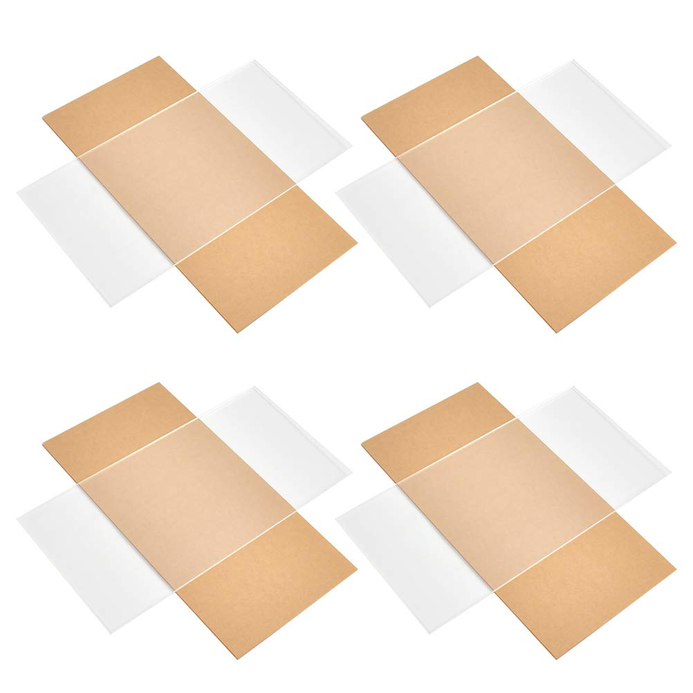 BUYGOO 4Pack Clear Large-scale sale Acrylic Sheet Tampa Mall 1 6″ 8