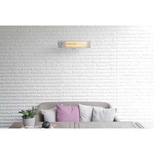 VASNER Infrarot Heizstrahler Appino 20 silber, 2000 Watt, Terrassenstrahler + Fernbedienung + Bluetooth App Steuerung, Infrarotstrahler Terrasse außen, elektrisch - 8