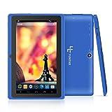 Yuntab Google Tablet 7 Pouces Q88 Android 4.4 Tablet PC Quad-Core 1 + 8Go Allwinner A33 HD 1024x600 1,5 GHz Pré-installé Double Caméra Google Play, WiFi, 3D, Bluetooth (Blue)