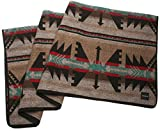 RUTH&BOAZ Outdoor Wool Blend Blanket Inka Pattern (A) (Brown, Large)