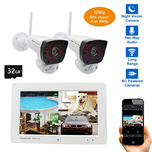 CasaCam VS2072 Wireless Security Camera System...