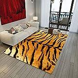 Bljanglai Zebra Leopard Tigre Impresión 3D Alfombra De Franela Área De Alfombra Alfombra De Puerta De Entrada Sala De Estar Alfombra De Dormitorio 100X150Cm K3579