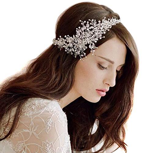 Butterme diadema de pedrería de cristal para novia, accesorios de boda para...