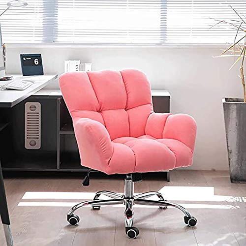 PLAYH Upholstered Swivel Chair For Home Work Executive Office, Office Chair, Height Adjustable Computer Chair Desk Chair-60x87-95cm (24x34-37inch)