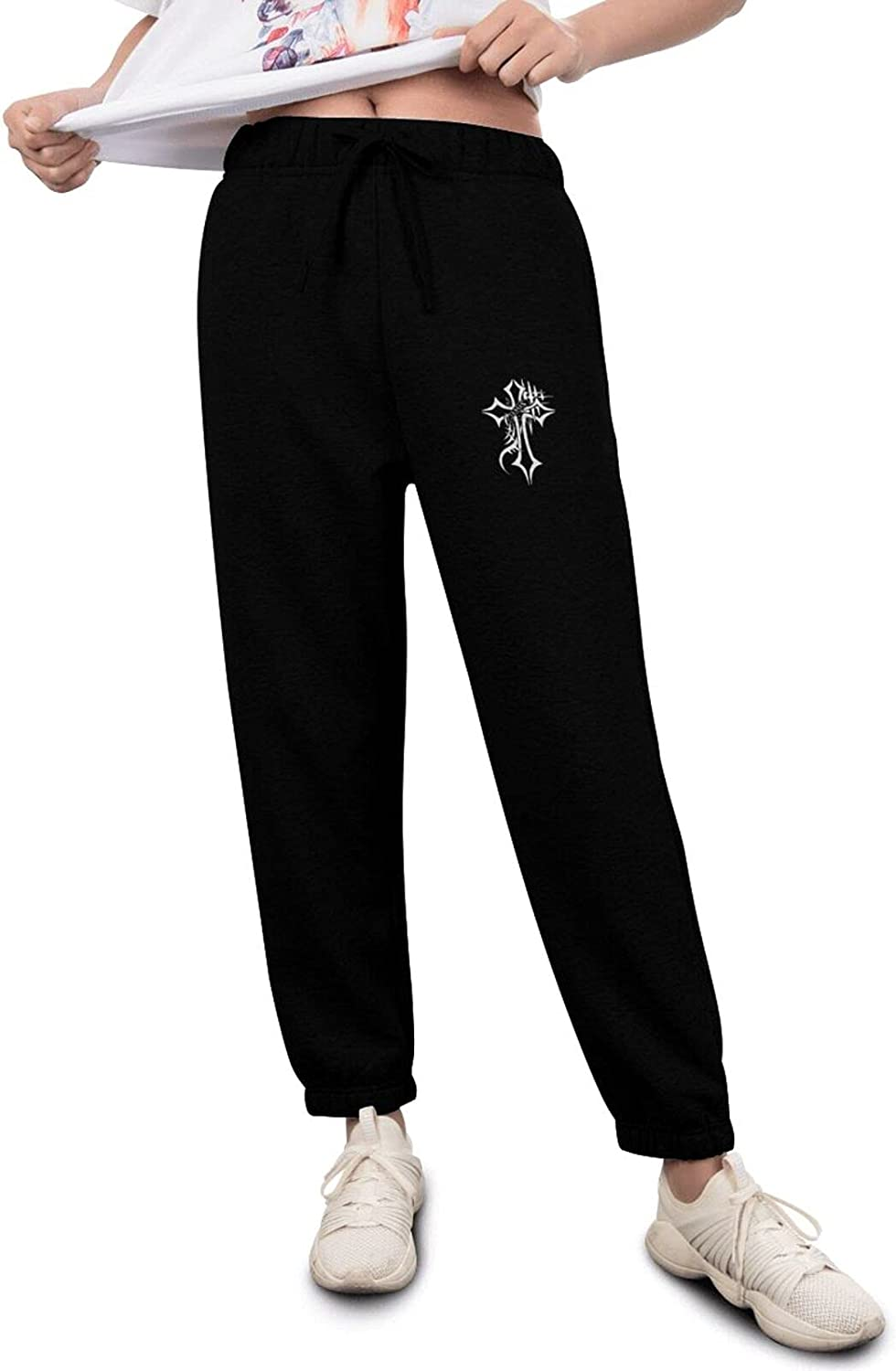 Jesus Christian Cross Women's Track Factory outlet Fees free Pants Breathable Lightweight