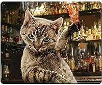 マウスパッド 滑り止めラバーマウスパッドデスクトップノートブックマウスマット仕事とゲーム用 (Square Cheering Cat)