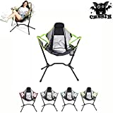 Camping Chairs for Adults,Outdoor Folding Chair/Rocking Chairs, Portable Swinging Chair,Reclining Beach Chairs,Hammock Chair Camping,Recreation,Hiking, Picnic, Beach,Fishing,Green