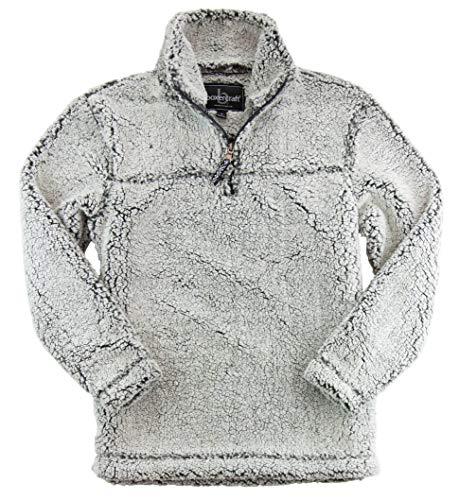boxercraft Sherpa Quarter Zip Pullover, Warm & Cozy, Frosty Grey XS