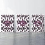 ZYQYQ celosía islámica Alá caligrafía pared arte lienzo pinturas Islam cartel decorativo árabe cartel e imagen 30x42cmx3 sin marco