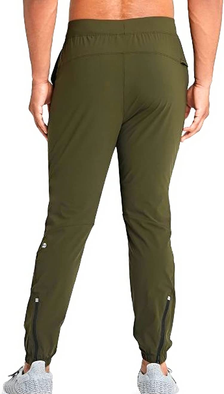 All in Motion Men's Lightweight Run Pants Olive Green (Large) Jogger