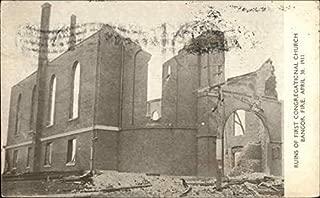 Ruins of First Congregational Church Bangor, Maine Original Vintage Postcard