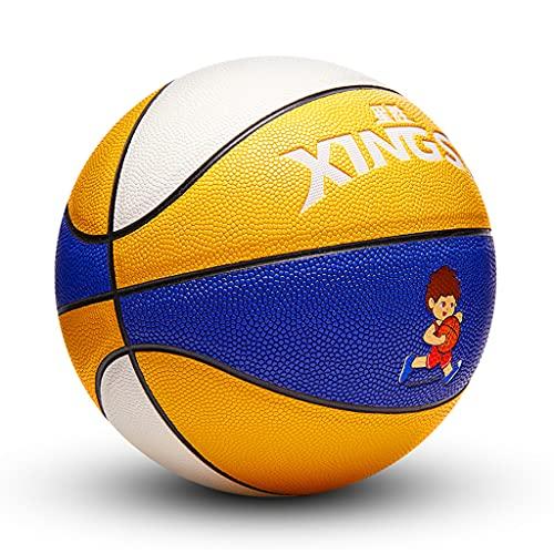 YCX Baloncesto para Niños Talla 5 Baloncesto De Entrenamiento 4-12 Años Niños/Escuela Primaria Competencia Especial Entrenamiento Baloncesto Exterior Cuero Suave Resistente Al Desgaste