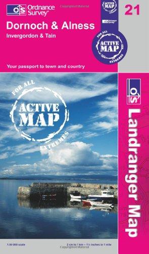 Dornoch & Alness, Invergordon & Tain (OS Landranger Active Map)