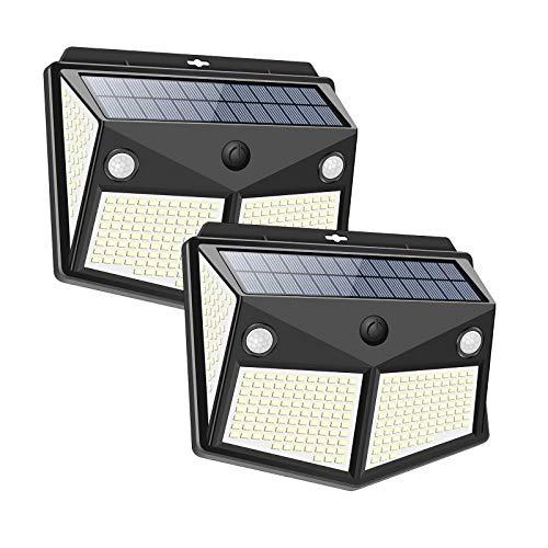 Lámpara de pared al aire libre del sensor de la luz solar impermeable IP65 260 LED para las escaleras del patio trasero del jardín