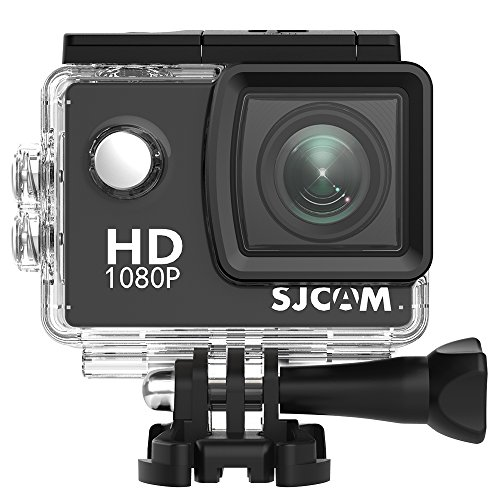 SJCAM SJ-4000 Deutsche Version wasserdichte Sport Actionkamera (5,08 cm (2 Zoll), FHD, 1080p, 30m, 12MP, 16 Zubehörteile) schwarz