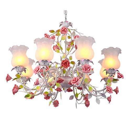 KIWG Kronleuchter Pendelleuchten Florentiner Klassisch Metall Floral Rustikalen Stil Design Für Wohnzimmer Schlafzimmer Kinderzimmer Rose Kronleuchter E27