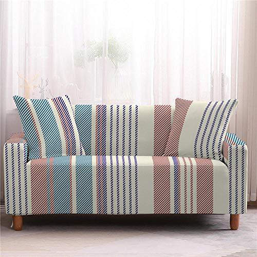 Alayth Funda elástica para sofá de 1 a 4 plazas, funda protectora para sofá de 1 a 4 plazas, diseño geométrico