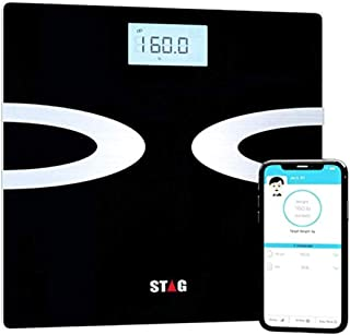 Bluetooth Digital Body Fat Scale - Best Smart Wireless Body Composition Analyzer with iOS and Android App for Body Weight - Amazing Bathroom Scale - Fat - Water - Bmi - Muscle Mass - 396lbs