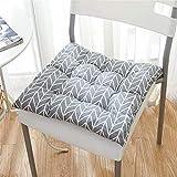 Cuadrada simple silla Asientos de almohadillas de algodón de lino espesa el cojín de asiento suave mullido acolchado Cojín 50x50 fácil de limpiar for la cocina de jardín Silla de oficina Comedor al ai