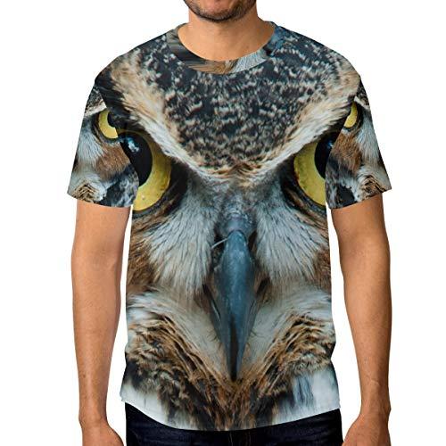 Camiseta para Hombre niños búhos Ojo Manga Corta Personalizada