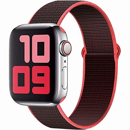 SSEIHI Kompatibel mit Apple Watch Armband mit 38mm 40mm 42mm 44mm, Nylon Sport Armband Ersatzband Kompatibel Iwatch SE,Series6,Series5,Series4,Series3,Series2,Series1