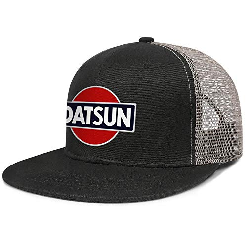 ookandua Datsun-Logo Men Women Flat Visor Cap Mesh Cool Fitted Retro Snapback Hat