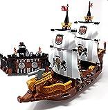 Juego de construcción de bloques de barco, ataque a la bahía pirata con barco de vela Royal Navy y pirata Fort