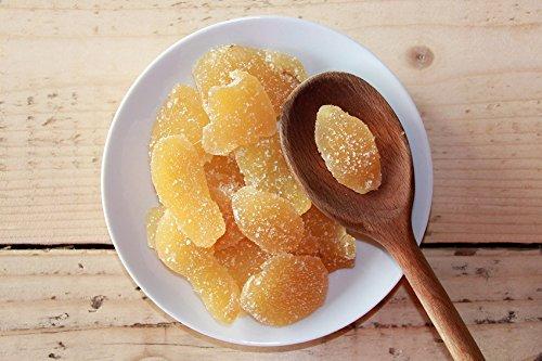 gingembre cristallisé 1 Kg | Gingembre confit en lamelles | Gingembre en Tranches de | Gingembres séchés sucrés | Collation sucrée | IDÉAL pour les recettes | Végétariens et végétaliens | Dorimed