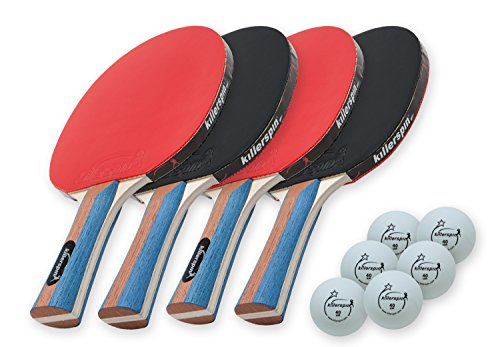 Check Out This Killerspin JET SET 4 Ping Pong Paddle Set with 6 Balls Ð Beginner Table Tennis Racke...